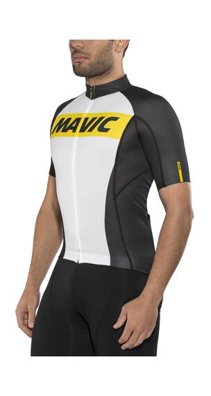 Mavic Cosmic Kortærmet cykeltrøje Herrer hvid/sort